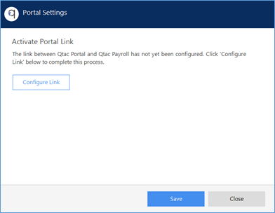 Screenshot showing how to activate the QPortal