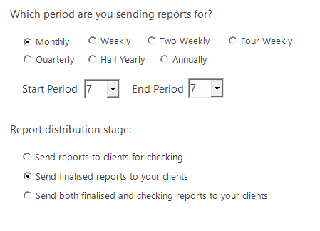 Screenshot to show the sending phase of Automated Reports 2.0