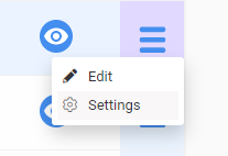 Screenshot to show settings option on hamburger button
