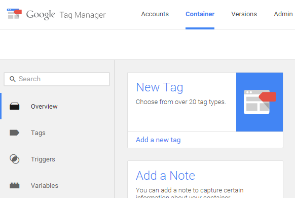 New tag in Google Tag Manager