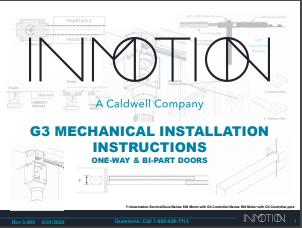 G3 Mechanical Installation Instructions