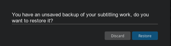 How do I restore unsaved subtitles after a computer crash