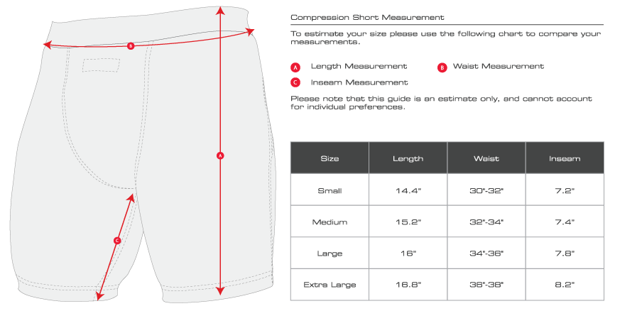 Hayabusa Compression Shorts Size Guide Martial Art Shop