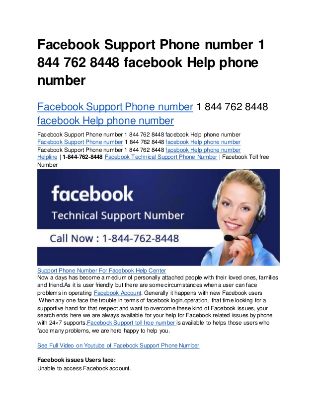 Awesome Facebook Technical Support Number 1 844 762 8448 Nice Ideas