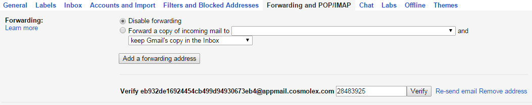 Configuring email integration with gmail cosmolex on the same screen in gmail you can now select the cosmolex address as your forwarding mailbox forwarding outgoing emails publicscrutiny Image collections
