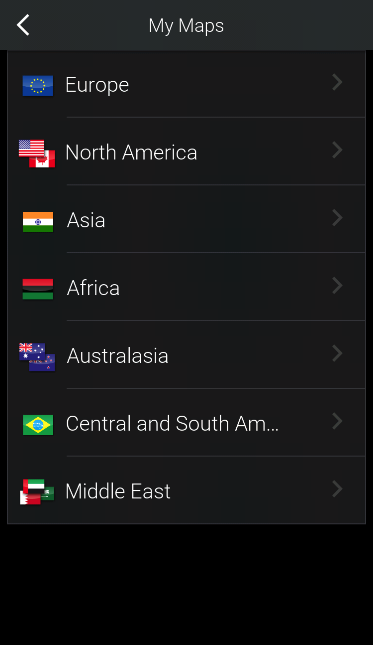 Which maps are available in CoPilot CoPilot App Stores