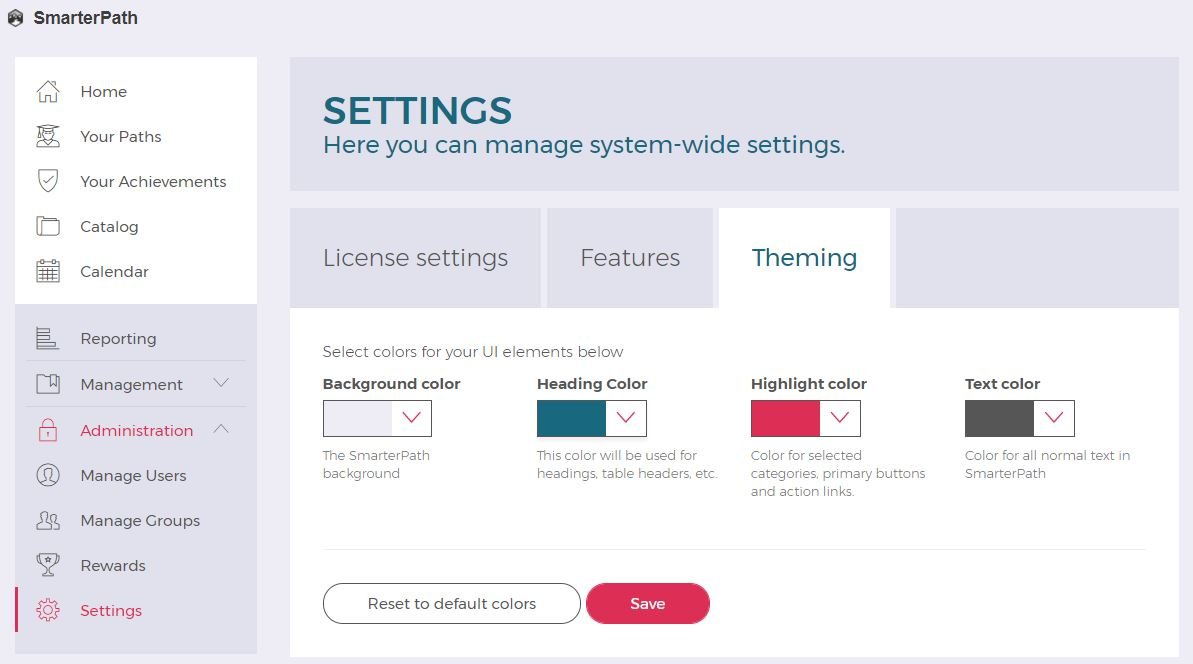 Adjust Jive Theme for SmarterPath : Pokeshot Helpdesk
