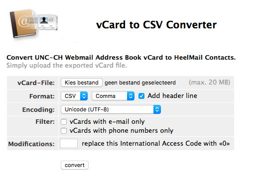 SpinOffice Support | How to convert Mac Address Book vCards