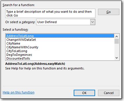 Using Spreadsheets: Entering Formulas : PC*MILER
