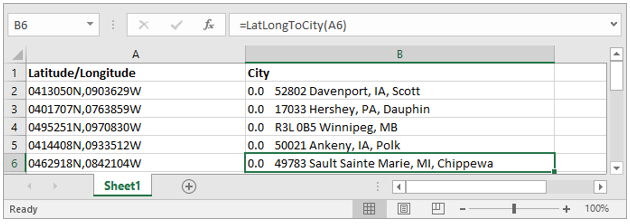 Using Spreadsheets: Getting Location Information (Lat/Long