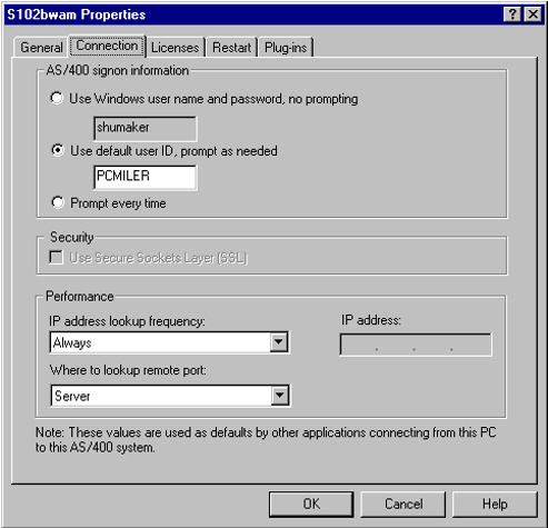 AS/400: Configuring Client Access Express : PC*MILER