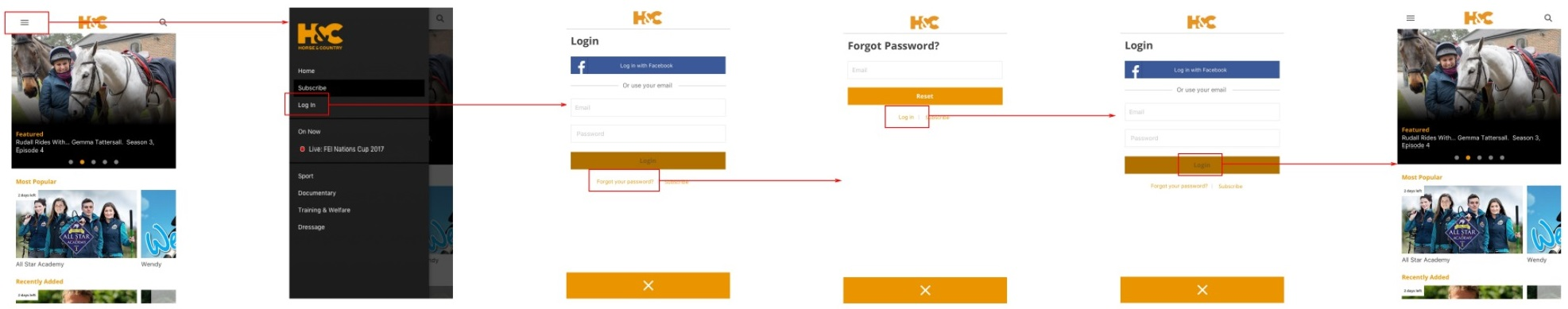Steps to login on Android Mobile and Tablet