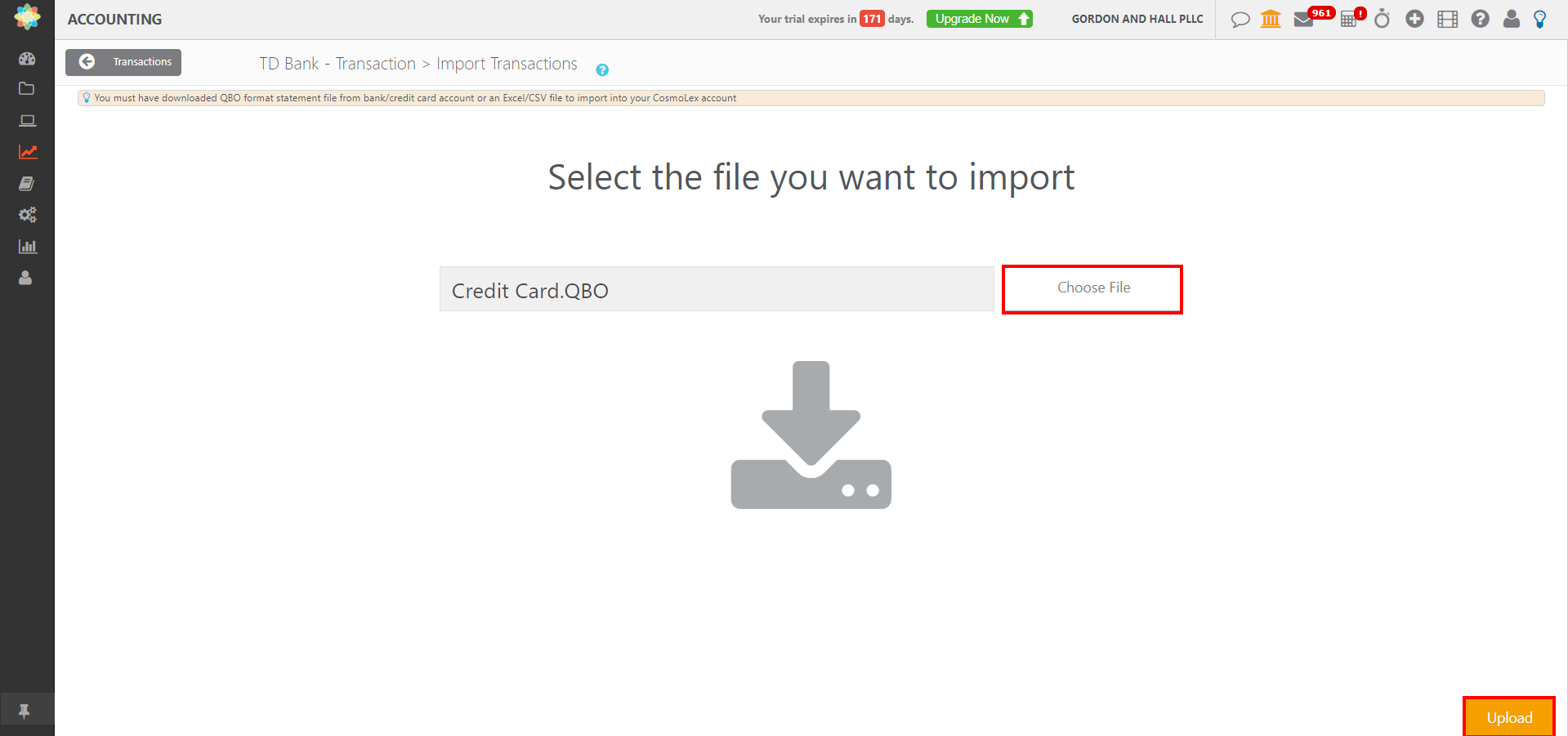 How to Import Credit Card Transactions | CosmoLex