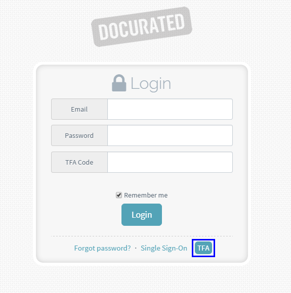 How to login to Docurated? : Quark Software Inc