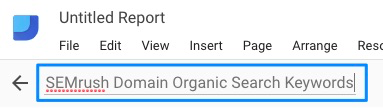 Blue highlighted text given an example data source name