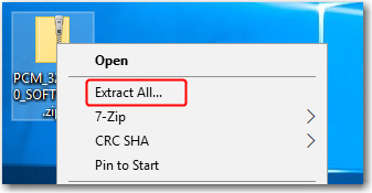 How to Unzip a PC*MILER Product Download : PC*MILER