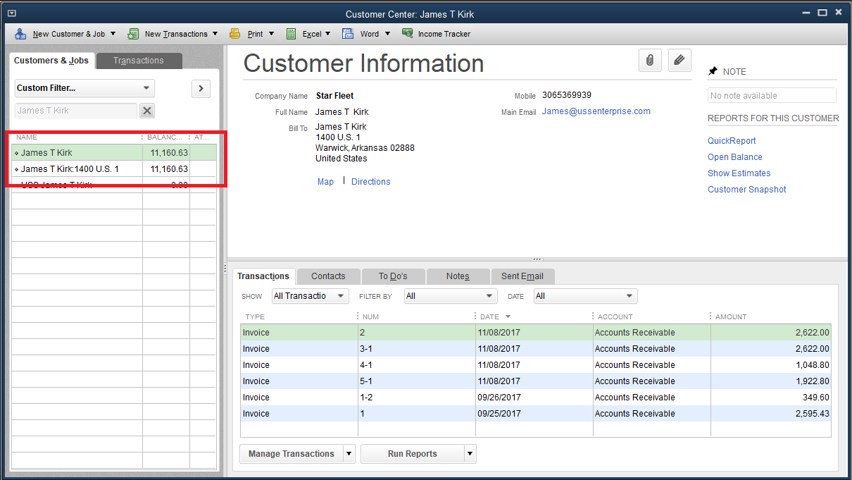QuickBooks Desktop - Handling Customer Job Info Using
