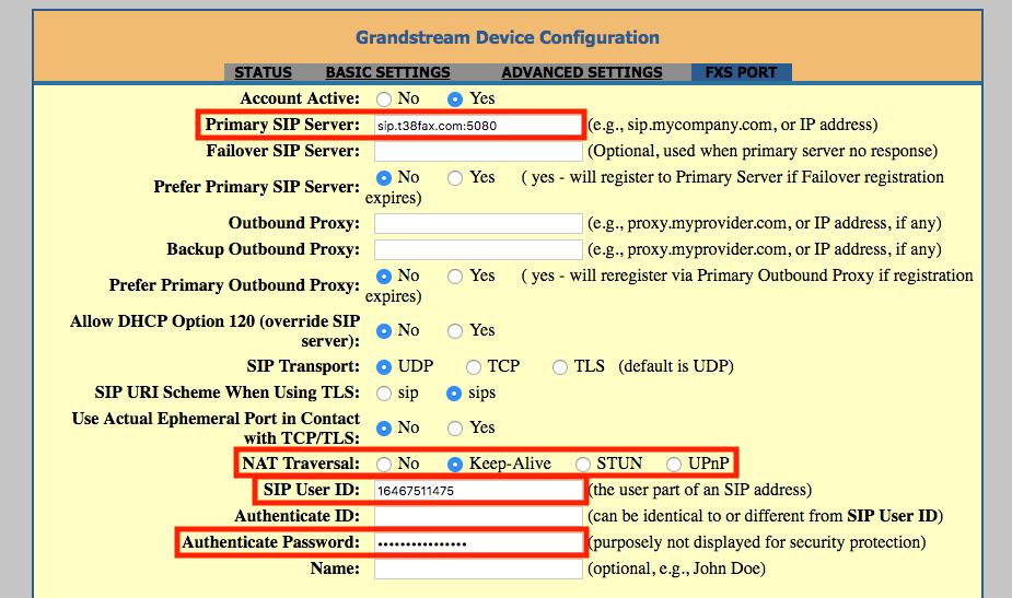 Grandstream: HandyTone 801 (HT801) ATA : T38Fax com