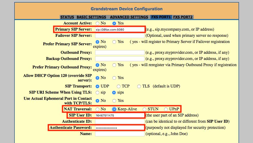 Grandstream: HandyTone 802 (HT802) ATA : T38Fax com