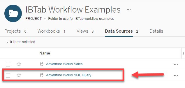 SQL Query to Tableau Data Source Workflow : InfoSol Help Desk