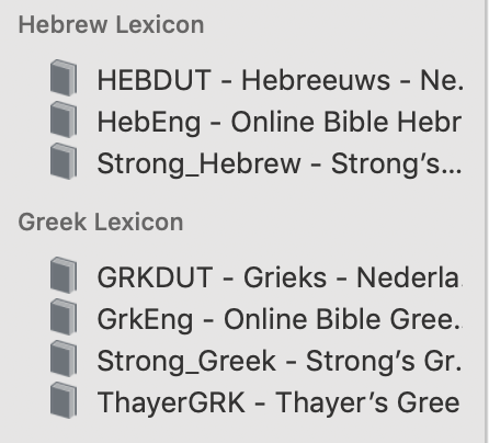 Using Hebrew and Greek lexicons : Stichting Online Bible Europe