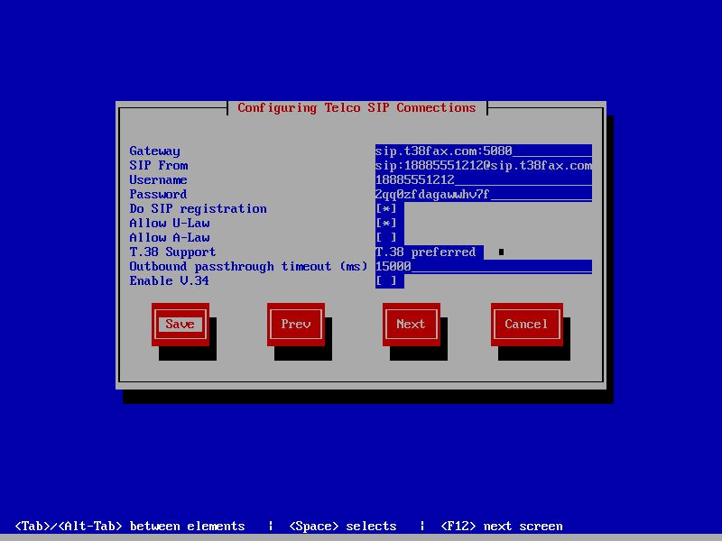 HylaFAX Enterprise T38Fax SIP Config
