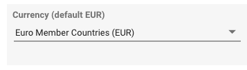 Example currency setting in Data Studio for Criteo connector