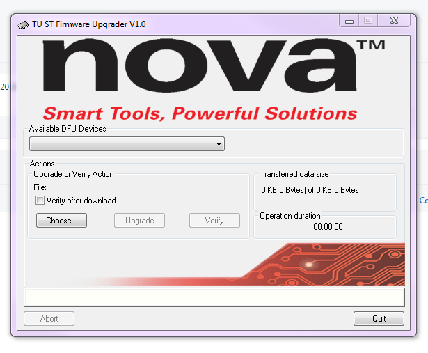 Procedure for Upgrading the Firmware on the NOVA Voyager