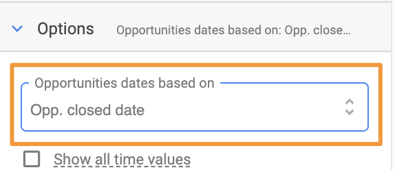 Orange box highlights advanced date setting in Google Sheets