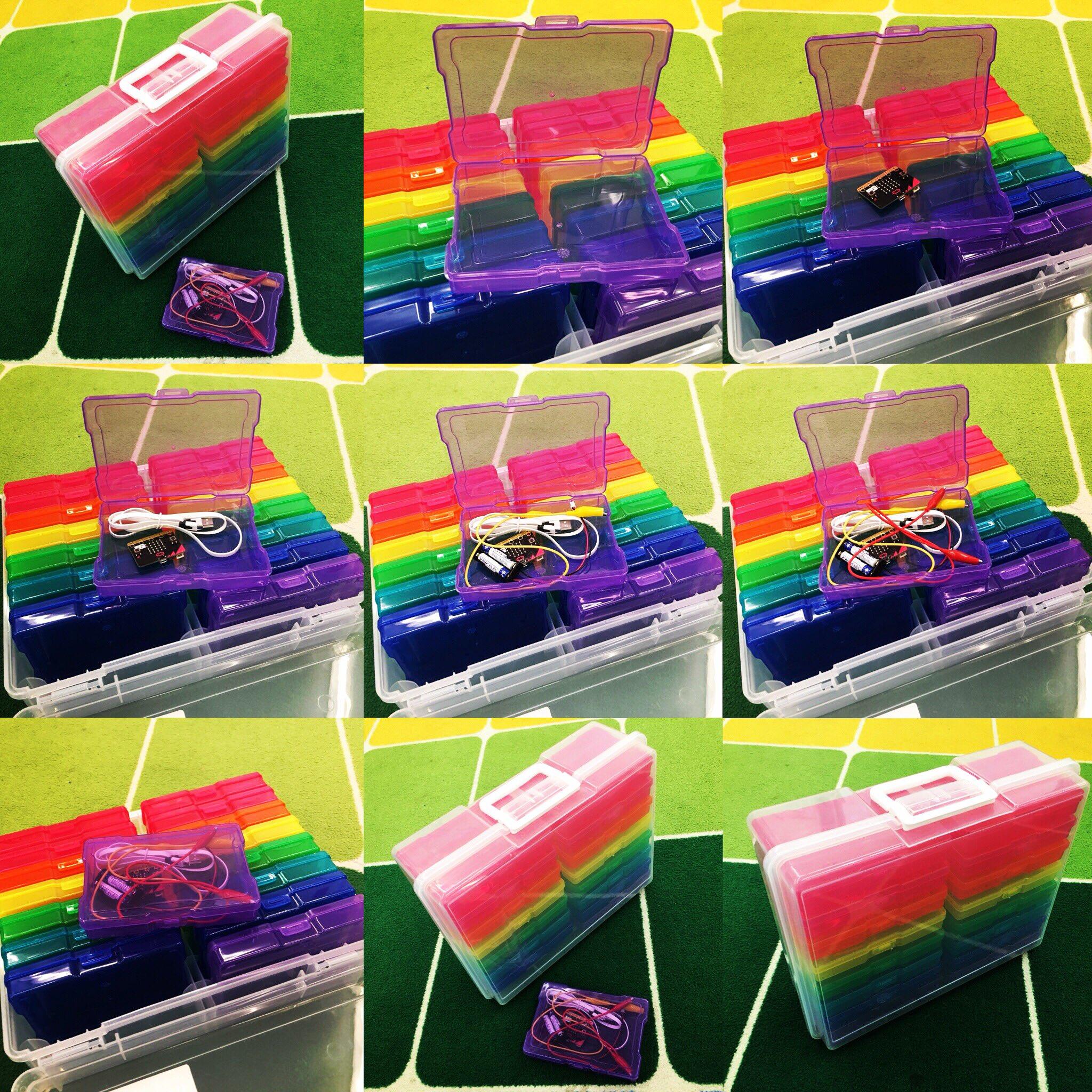 rainbow coloured storage cases