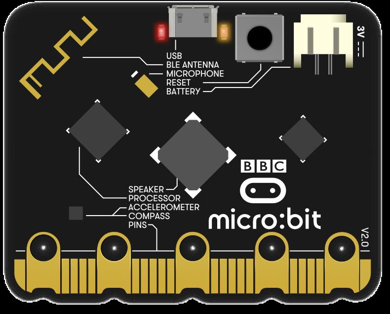 back of micro:bit
