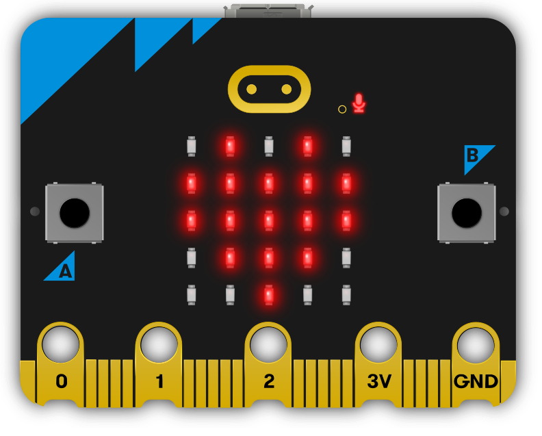 front of micro:bit