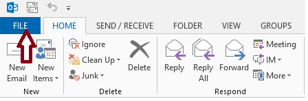 1.Click the File tab, and then click the Info tab in the menu.