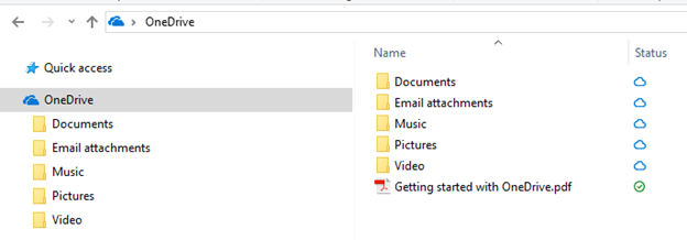 OneDrive Windows Explorer