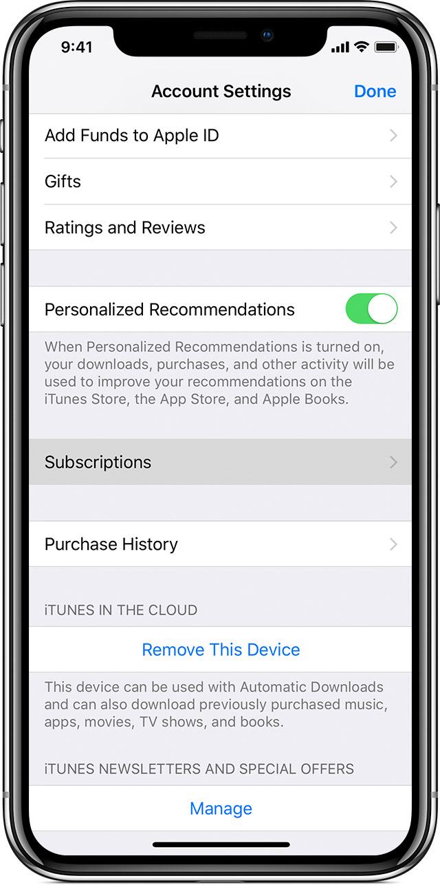 Um iPhoneX mostrando a tela