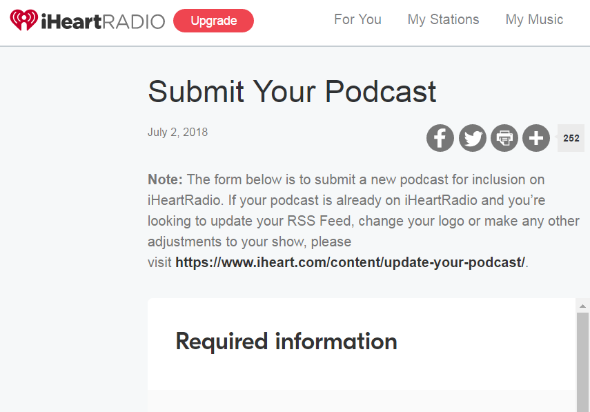 iHeartRadio - Submit Podcast