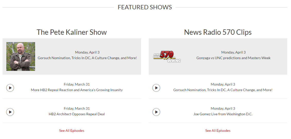 Featured Shows