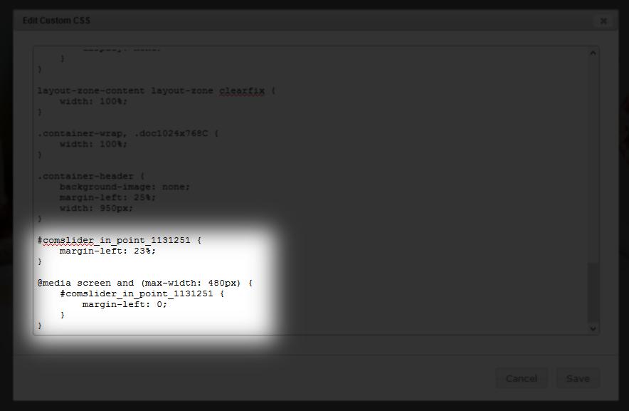 edit custom CSS