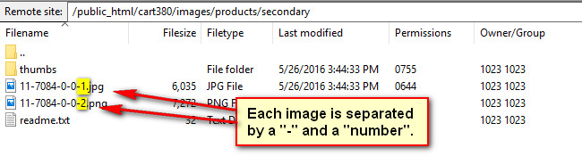 sample file name on FTP