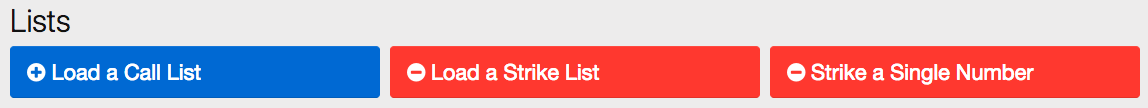 On your admin panel under Lists, find the option for Load a Strike List.