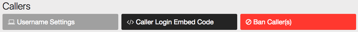 On your admin panel under Callers, find the option for Caller Login Embed Code.