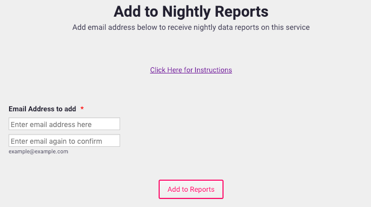 Add to Nightly Reports