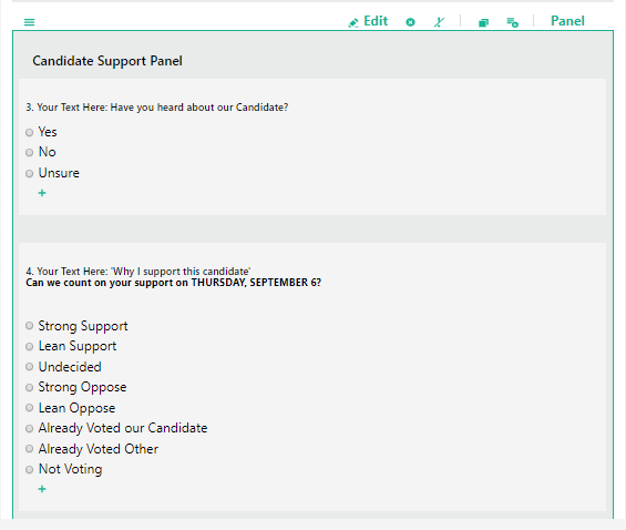 candidate support