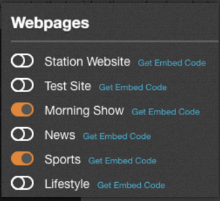 Webpages Toggles