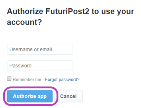 Authorize App Form
