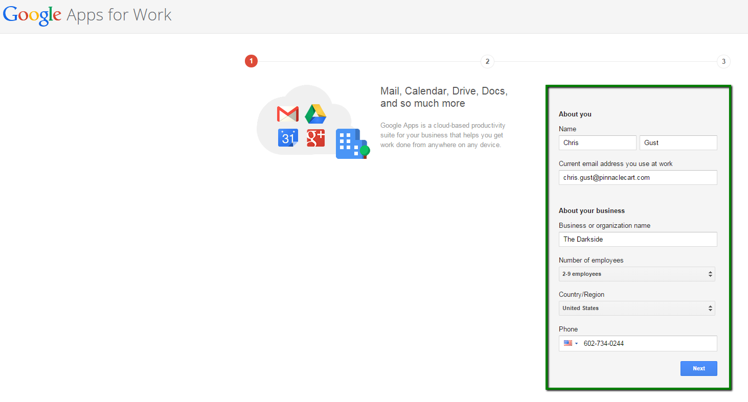 set up Gmail