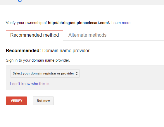 verify domain