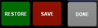 image of Restore, Save and Done buttons