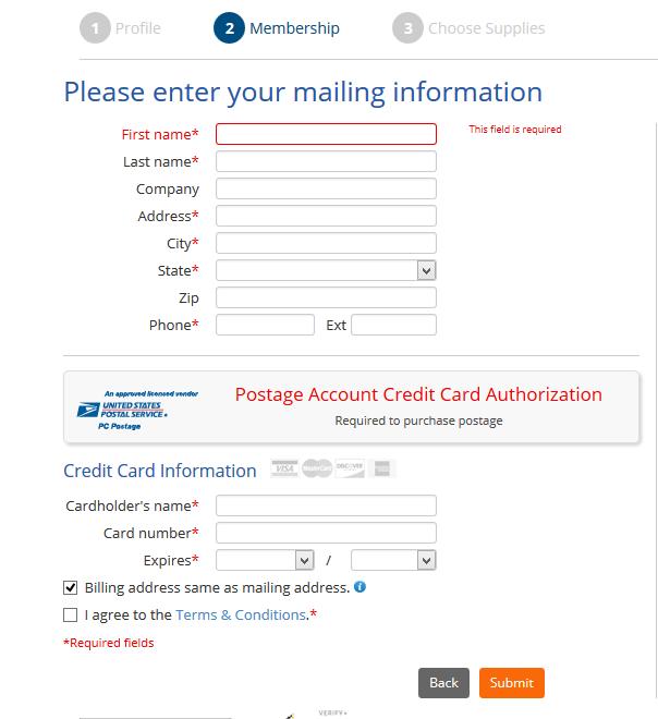 membership info stamps