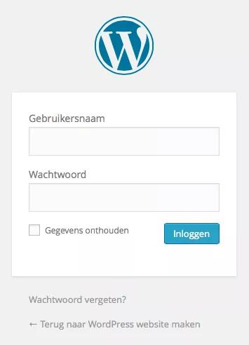 wp_login_scherm
